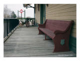 Train museum bench, West