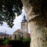 Stealing a glance at the church