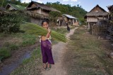 Collecting grass stalks for making brooms
