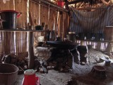 Cooking area, Hmong house, Ban Tha Luang