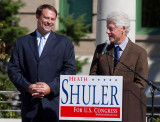 _MG_3401 Heath Shuler Appreciating the Support from President Clinton