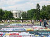 the AIDS Memorial Quilt in Washington, DC June 2004