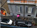 Pink Umbrella on Via Modena1516