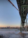 Morning light under the Angus L MacDonald Bridge