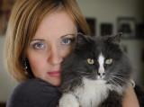 Tiffany and Grey Cat