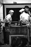 1 Kitchen, 2 Chefs and 1 Waiter edited with Topaz Adjust
