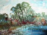 Peisaj cu lac   (colectie particulara)