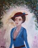 Femeie cu palarie si voal (colectie autor)