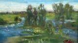 Peisaj cu rate pe rau(colectie particulara)