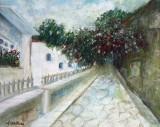 Strada in Naplio-varianta(colectie particulara)
