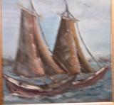 Barci pe mare(colectie particulara)