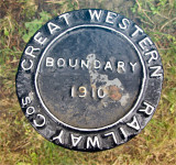 GWR Boundary marker.