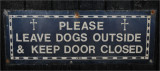 No dogs in church.