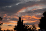 Sunset over the chimneys - 9 Jun 2010.