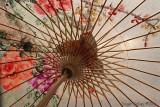 Inside a Taiwanese paper umbrella.