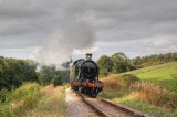 4247 climbing to Roebuck Crossing on the West Somerset Railway.