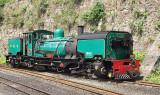 Welsh Highland Railway - a narrow garratt locomotive which once ran in South Africa