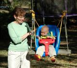 Betty swinging Brooks