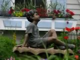Enjoying His Garden