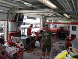 Randy in Xerox Ducati garage