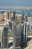 Armada Towers, Jumeirah Lake Towers with Dubai Marina and the Palm Jumeirah