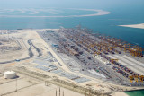 Port of Jebel Ali with Palm Jebel Ali
