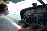 Captain taxiing in to the Jebel Ali Golf Resort