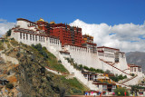 The most amazing sight in Tibet - the Potola Palace, fortress of the Dalai Lamas