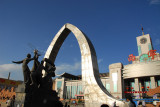 Monument in front of Xining Railway Station