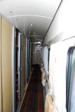 Corridor of the railway carriage