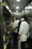 Kitchen of the dining car