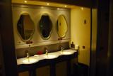 Washbasins outside the toilets