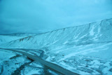 Snow along the old road to Lhasa, Qinghai Province