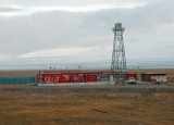 Watchtower at a remote outpost along the railroad, Qinghai Province