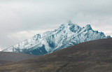 Snow covered peak near Jiangkedong Station, Qinghai-Tibet Railroad