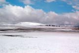 Snowy and desolate Tibetan Plateau