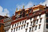 The state apartments of the Dalai Lama on the top level