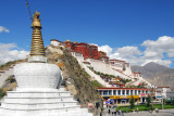 Nice view of the Potola Palace from the southwest, Lhasa