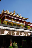 Jokhang Temple with it's 14th Century gilt roof