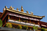 The Jokhang was built around 642 AD by King Songsten Gampo to celebrate his marriage to the Chinese princess Wencheng