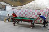 Sidewalk pool table, Barkhor