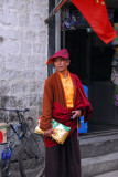 Monk of the Nyingmapa (Red Hat) sect of Tibetan Buddhism