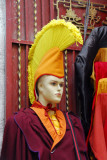 Shop with monks robes of the Gelug (yellow hat) sect