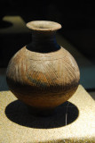 Trangle-folded pottery jar - late neolithic, found at Karo, Chamdo