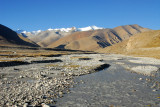 Stream with the very tip of Cho Oyu in the distance