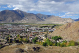 View from the hills above old town Tsetang north to the Yarlung Tsangpo River
