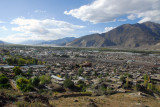 View west from the hills above old town Tsetang up the Yarlung Tsangpo