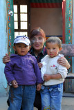 Woman who runs the place with her two small kids