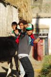 Teen-aged boys in Tsetang