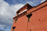 Completing the monastery kora back at Tsetang Monastery